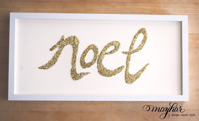 DIY: Sparkle Word Art | Mayhar Design
