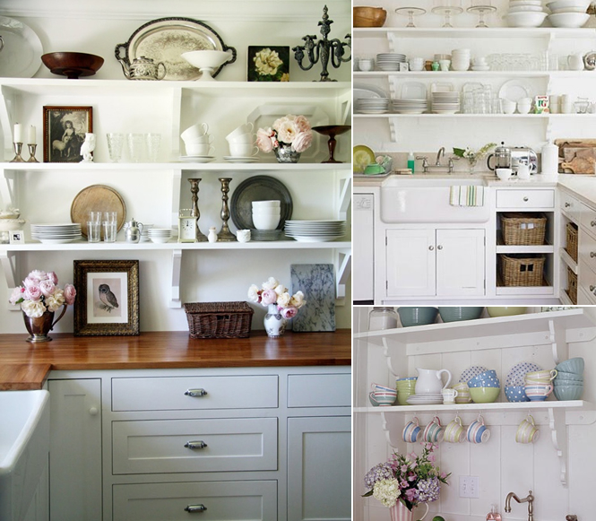 Hanging Open Kitchen Shelves: Mayhar Design